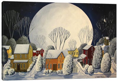 Starry Sky Quiet Night Canvas Art Print