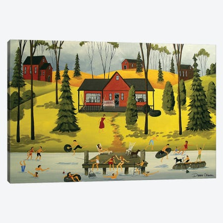 Summer Weekends Canvas Print #DEC94} by Debbie Criswell Canvas Art