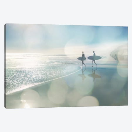Surfers Canvas Print #DED3} by Devon Davis Canvas Art Print