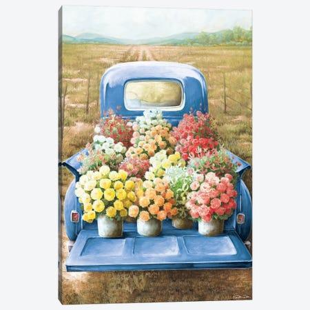 Flowers for Sale Canvas Print #DEE2} by Dee Dee Canvas Art