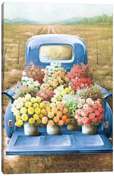 Flowers for Sale Canvas Art Print