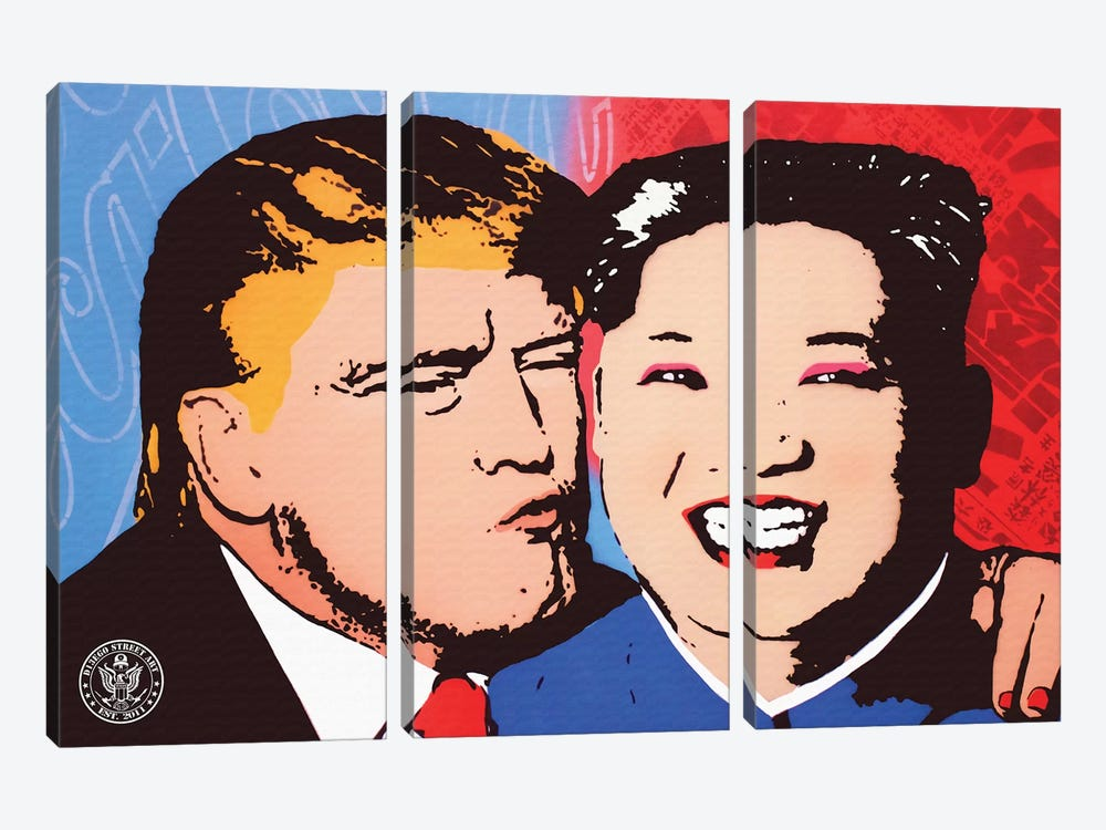 Kiss And Make Up by D13EGO 3-piece Canvas Print