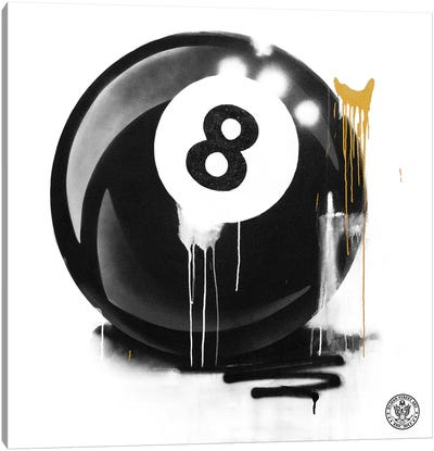 Lucky 8 Ball Canvas Art Print
