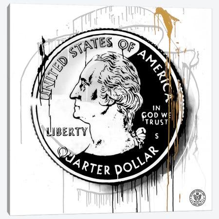 Lucky Coin Canvas Print #DEG14} by D13EGO Canvas Artwork