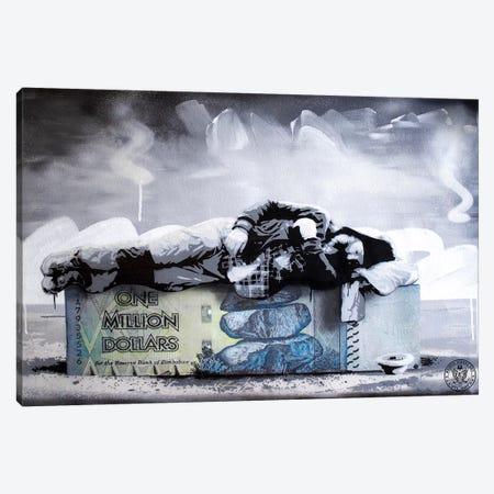 Poor Millionaire Canvas Print #DEG19} by D13EGO Art Print