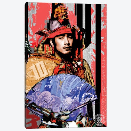 Red Samurai Canvas Print #DEG21} by D13EGO Canvas Art