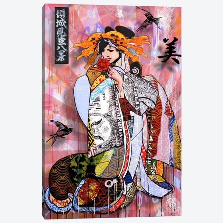 The Beauty Of Money Canvas Print #DEG26} by D13EGO Canvas Art Print