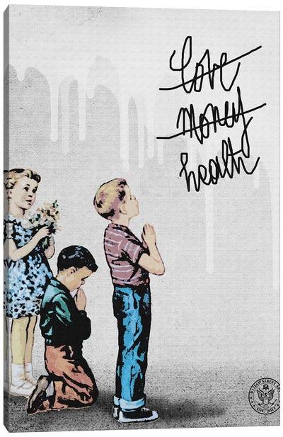 Love Health & Money Canvas Art Print