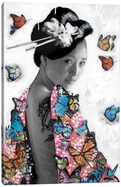 Lady O' Butterflies Canvas Art Print