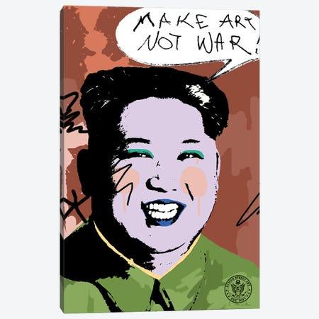 Make Art Not War Canvas Print #DEG45} by D13EGO Canvas Print