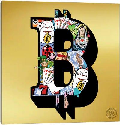 Lucky Bitcoin Canvas Art Print