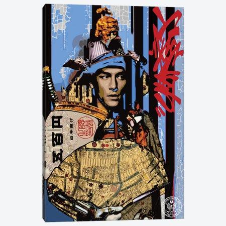 Blue Samurai Canvas Print #DEG4} by D13EGO Art Print