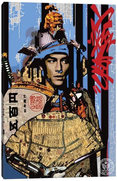 Blue Samurai Canvas Art Print