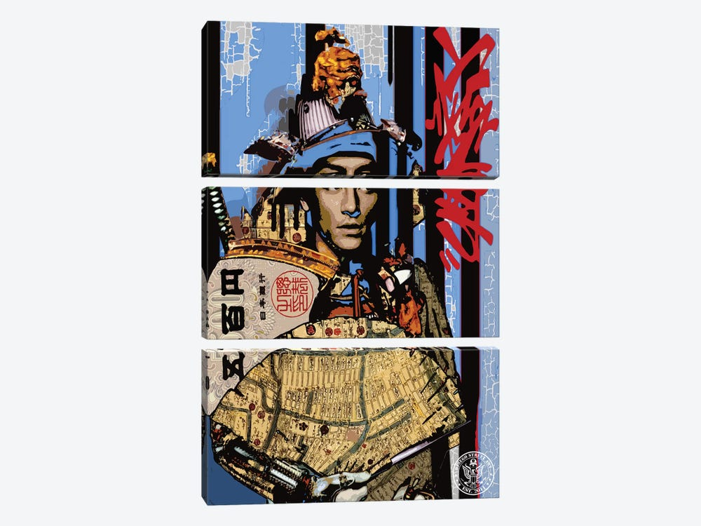 Blue Samurai by D13EGO 3-piece Canvas Art