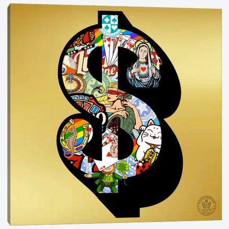 Lucky Dollar Canvas Print #DEG50} by D13EGO Art Print