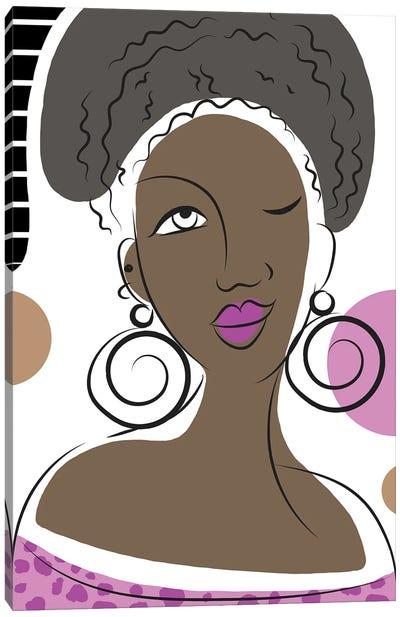 Winking Lady Canvas Art Print
