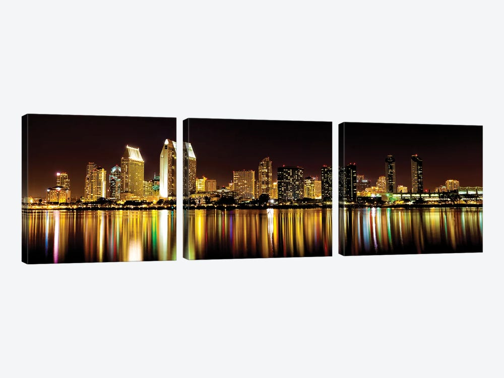 San Diego Skyline by Danita Delimont 3-piece Canvas Artwork