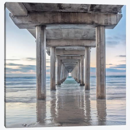 Scripps Pier Canvas Print #DEL137} by Danita Delimont Canvas Art