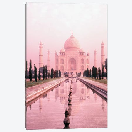 Taj Mahal in Pink Light Canvas Print #DEL195} by Danita Delimont Canvas Art