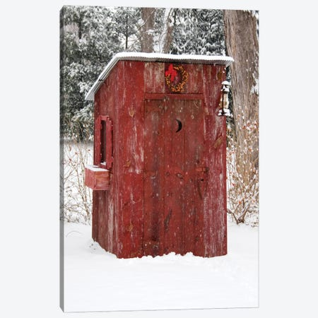 Holiday Outhouse Canvas Print #DEL213} by Danita Delimont Canvas Wall Art