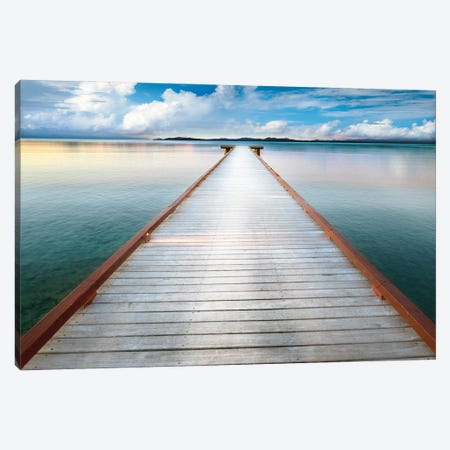 Long View Pier Canvas Print #DEL227} by Danita Delimont Canvas Art
