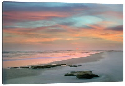Sunset at Matanzas Beach Canvas Art Print
