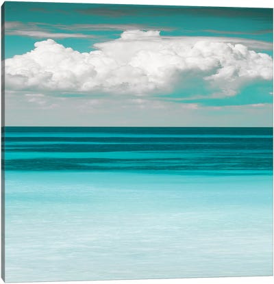 Teal Bay Canvas Art Print