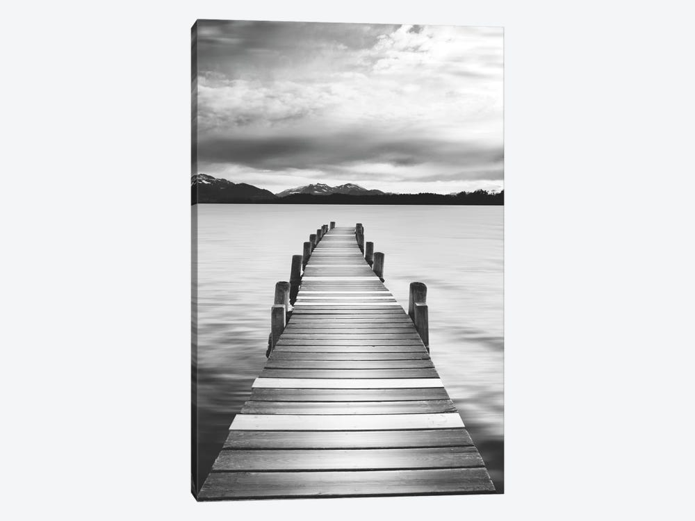 Jetty Black & White by Danita Delimont 1-piece Canvas Print