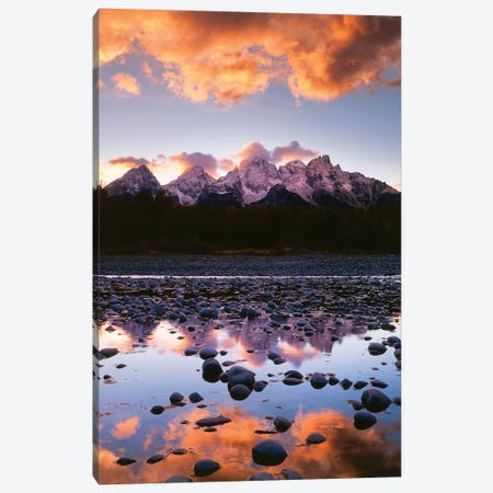 Snake River Reflection I Canvas Print #DEL42} by Danita Delimont Canvas Art Print