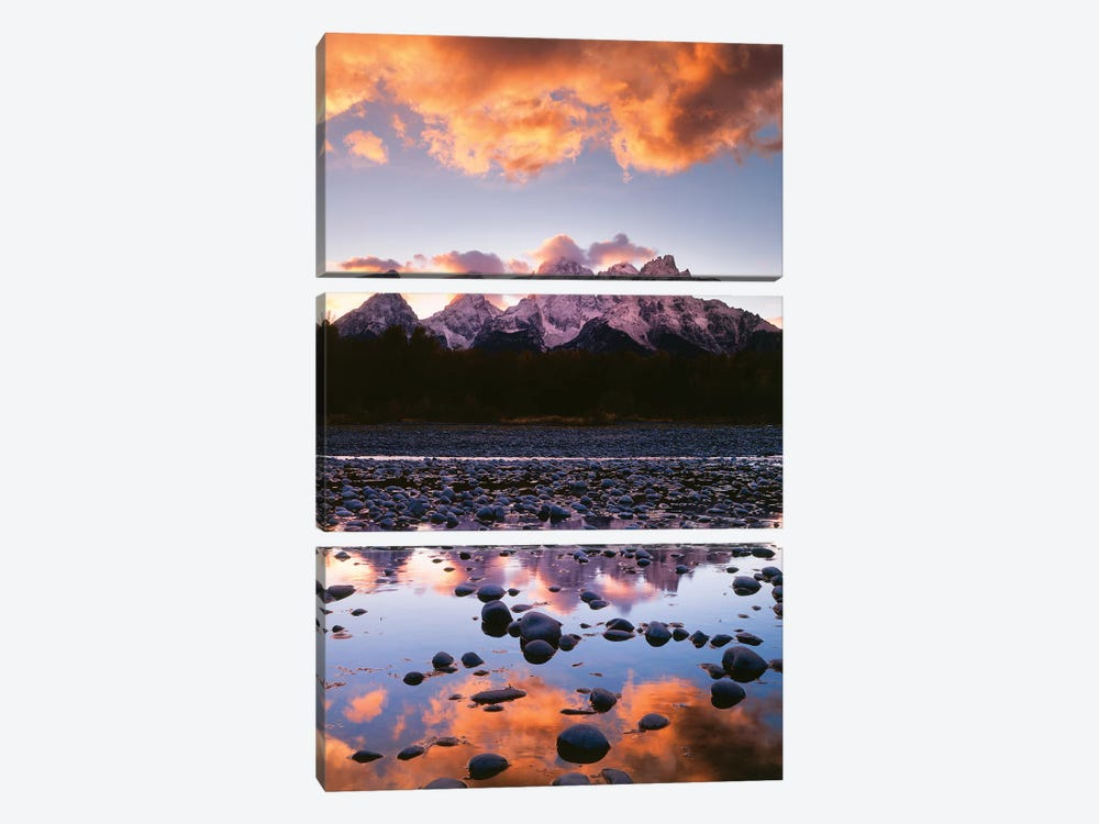 Snake River Reflection I by Danita Delimont 3-piece Canvas Art Print