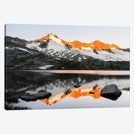 Sunrise At Upper Lake Gerlos Canvas Print #DEL44} by Danita Delimont Canvas Wall Art