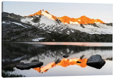 Sunrise At Upper Lake Gerlos Canvas Art Print