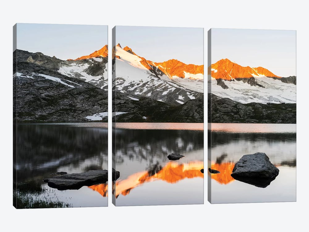 Sunrise At Upper Lake Gerlos by Danita Delimont 3-piece Canvas Print