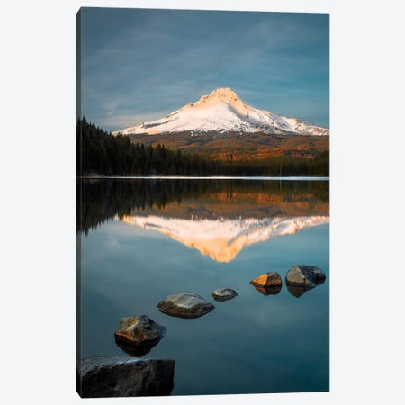 Trillium Lake Sunset Canvas Print #DEL45} by Danita Delimont Canvas Art