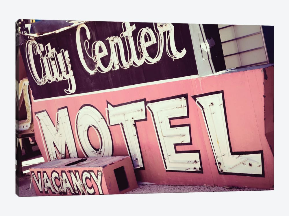 City Center Motel 1-piece Canvas Artwork