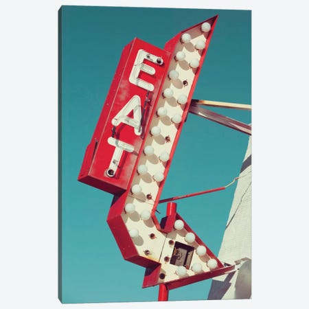 Retro Eat Sign Canvas Print #DEL57} by Danita Delimont Canvas Print