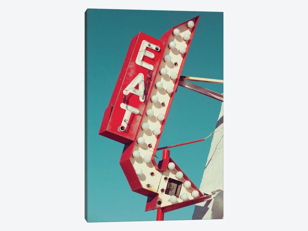 Retro Eat Sign by Danita Delimont 1-piece Canvas Print