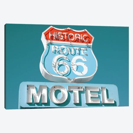 Retro Route 66 Canvas Print #DEL59} by Danita Delimont Canvas Wall Art
