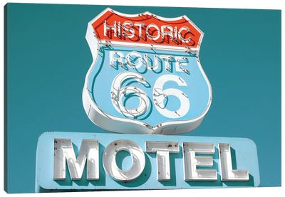 Retro Route 66 Canvas Art Print