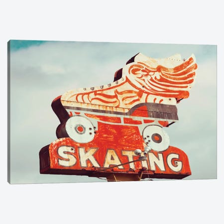 Retro Skating Canvas Print #DEL60} by Danita Delimont Canvas Print