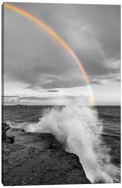 Clarks Point Rainbow Canvas Art Print