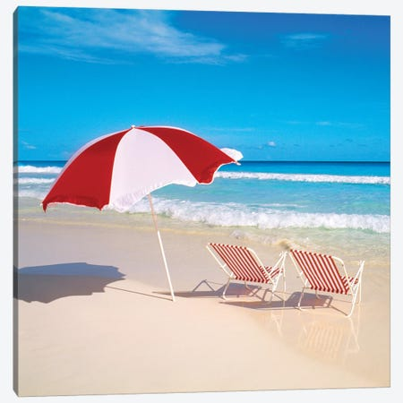 Bright Beach Canvas Print #DEL7} by Danita Delimont Canvas Artwork