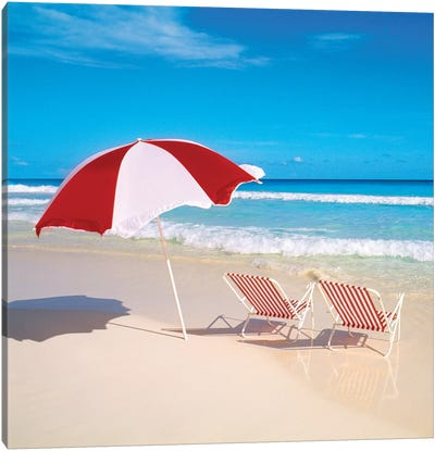 Bright Beach Canvas Art Print