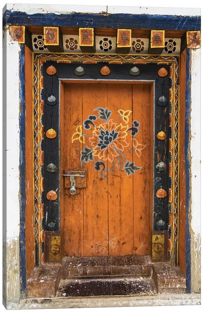Bhutan Door Canvas Art Print