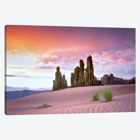 Desert Sunrise Canvas Print #DEN100} by Dennis Frates Art Print