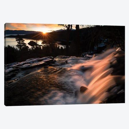 Eagle Falls Sunrise Canvas Print #DEN105} by Dennis Frates Canvas Artwork