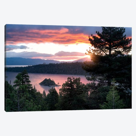 Emerald Bay Sunrise I Canvas Print #DEN109} by Dennis Frates Canvas Art Print