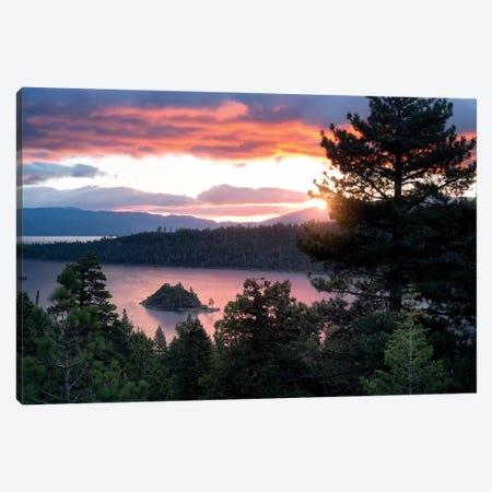 Emerald Bay Sunrise I Canvas Print #DEN109} by Dennis Frates Canvas Art Print
