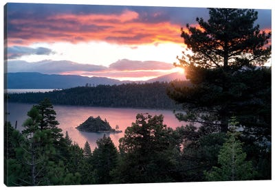 Emerald Bay Sunrise I Canvas Art Print