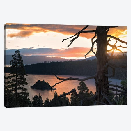 Emerald Bay Sunrise III Canvas Print #DEN111} by Dennis Frates Canvas Art